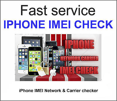 Fast iPhone IMEI checker Network & Carrier Check Sim lock status