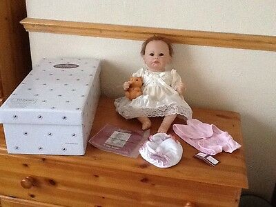 STUNNING ASHTON DRAKE Doll ,LITTLE ANGEL ,16 IN With Box, COA ,and 2 Outfits