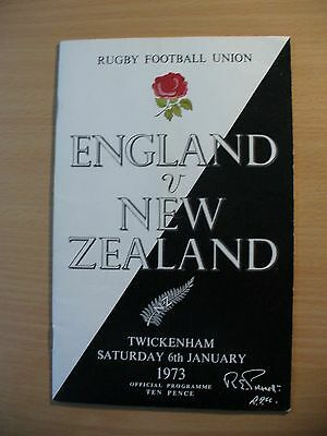 Three 1970s Rugby Union Programmes - New Zealand away fixtures.