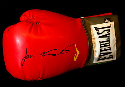 James Toney Signed 14oz Red Everlast  Boxing Glove
