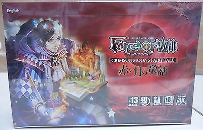 Sealed Force Of Will Trading Card Game Crimson Moons Fairy Tale Box 36 Packs Tcg