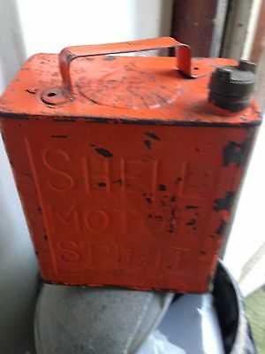 vintage petrol can Shell Barn Find