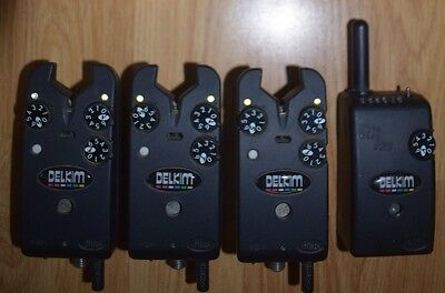 Delkim TXI Plus Bite Alarms & Receiver - Very Good Condition - Open To Offers