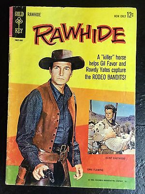 RARE!! Rawhide Gold Key #1 1963 VG Condition Clint Eastwood