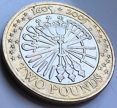 Guy Fawkes £2 Coin, Minting Error Two Pound Coin
