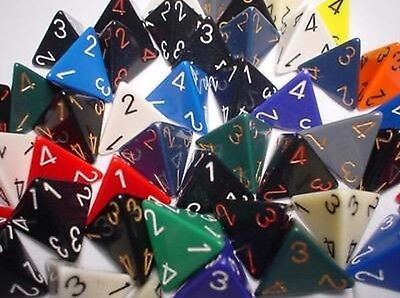 d4 Dice Chessex: Colour Random Dice Die for Quattro Faces Random colour Game D&D