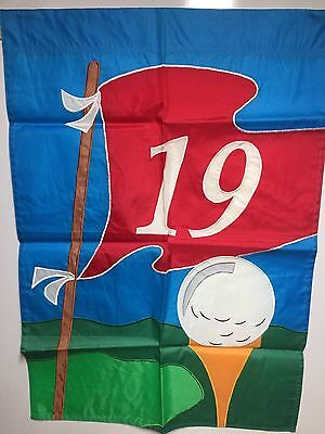 """Golf Hole 19 Hanging Decorative Flag NCE 28""""x40"""" NEW"""