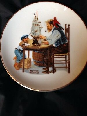 For A Good Boy Norman Rockwell Collector Plate 7""