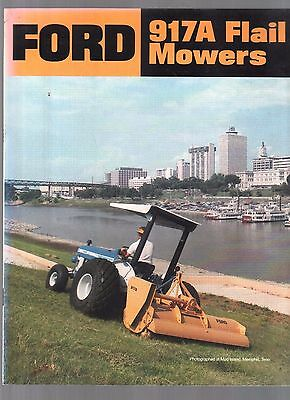 1985 Ford Tractor Industrial 917 A Flail Mowers Equipment Brochure