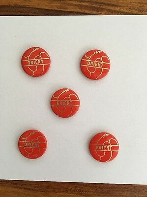 Leyton Orient FC. Lot Of 5 Tin Badges 1960s