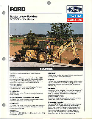 Ford New Holland Tractor Backhoe Loader 655D Brochure