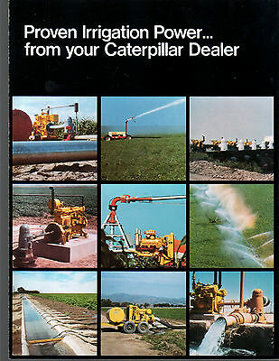 Vintage Caterpillar Tractor Irrigation Power Units Brochure
