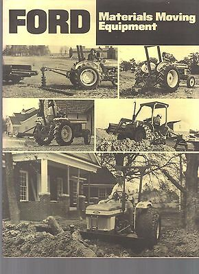 1985 Ford Tractor Material Moving Equipment Brochure