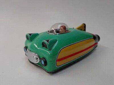 "Toy ""future Car"" Tin Friction Car With Bubble Cockpit By Schylling 2009"