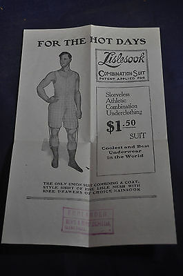 Ca 1910 For the Hot Days, Lislesook Combination Suit Underclothing, Englander