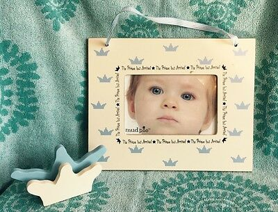Baby Boy Picture Frame The Prince Has Arrived Vintaged Frame