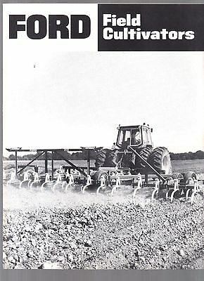 1984 Ford Tractor Farm Field Cultivators All Models Equipment Brochure