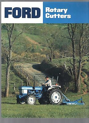 1985 Ford Tractor Farm Rotary Cutter Mower Equipment Brochure