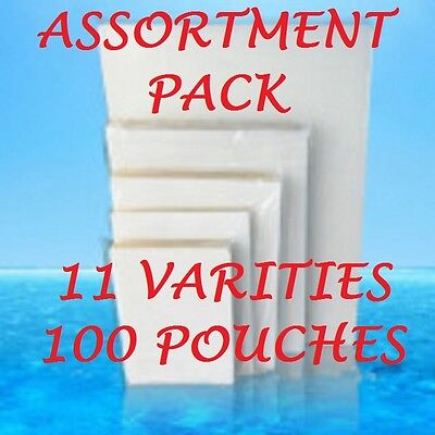 ASSORTMENT STARTER PACK Laminating Pouches Sheets 11 VARIETIES-100 PIECES
