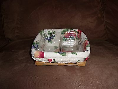Longaberger 2003 Little Bin Top Basket Set - Fruit Medley