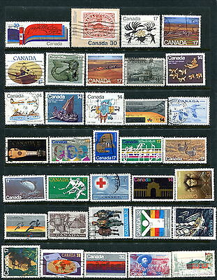 200 Different Used Canada Off Paper Stamps (Lot #d1)
