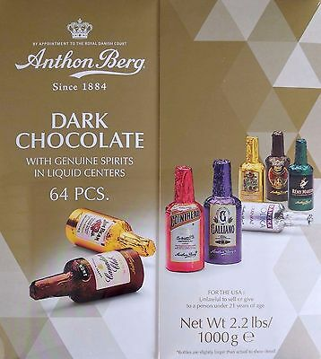 Anthon Berg 64 Chocolate Liqueurs With Geniune Spirits 1kg Gift Box NEW