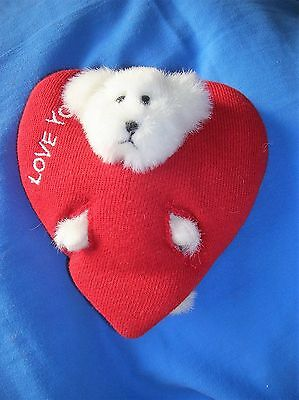 White Boyds Bear In Valentine Heart 'love You'