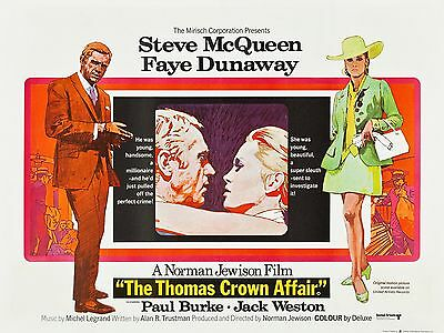 """The Thomas Crown Affair 1968 16"""" x 12"""" Reproduction Movie Poster Photograph"""