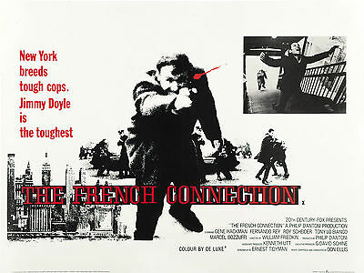 """The French Connection 1971 16"""" x 12"""" Reproduction Movie Poster Photograph"""