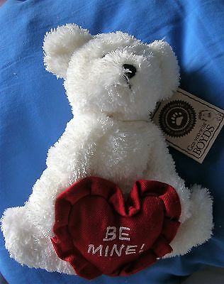 Boyds Bear With Valentines Red Heart. 'be Mine'