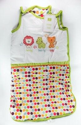 Unisex Safari Friends Baby Sleeping bag - Lion Hippo Tiger 6-12 Months