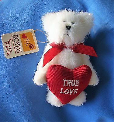 Boyds Bear For Valentines Day With Red 'true Love' Heart