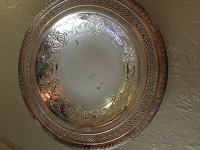 "International Silver Company, 148 Vintage 8"" Silver Plate Pierced Bowl/Dish"