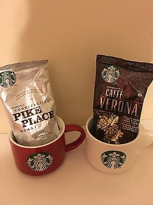 Starbucks 2 Cups And Special Coffee Blends! Brand New!