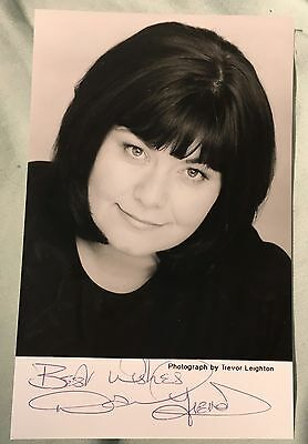 Original Dawn French Autograph Signed Photo Vicar of Dibley Saunders Psychoville