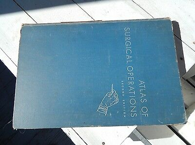 ATLAS OF SURGICAL OPERATIONS Second Edition, Cutler & Zollinger 1949 Good Cond.