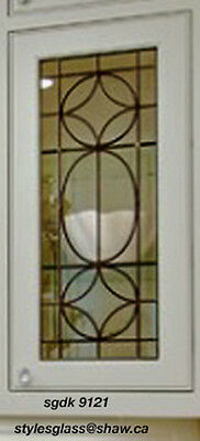 Beautiful Glass Cabinet Door inserts FOR existing & new Kitchens sgdk 9121