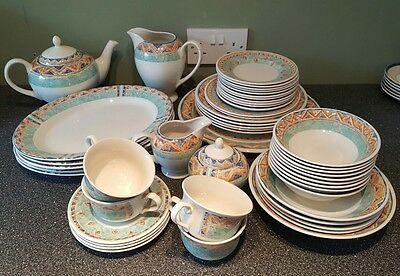 Churchill Ports Of Call Kabul Dinner Set Inc Plates Bowls Cups Chargers Platter
