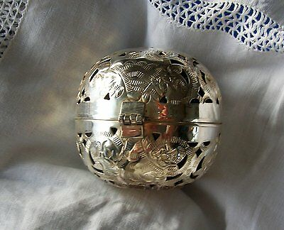 Past Times Victorian Metal Shadow Ball With Pot Pourri