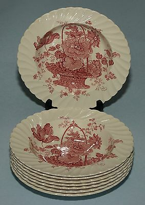 20 Total Staffordshire Clarice Cliff RED CHARLOTTE 4 Dinner, 8 Soup, 8 Dessert
