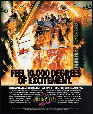 UNIVERSAL STUDIOS HOLLYWOOD__Original 1992 Print AD / advert promo__Backdraft