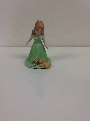 Vintage Enesco Growing Up Girl #6 Brunette