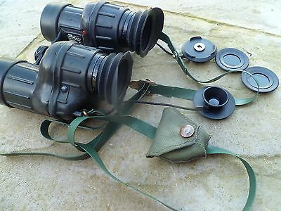 british army 1980's AVIMO, L12A1 binoculars, with filters, vgc
