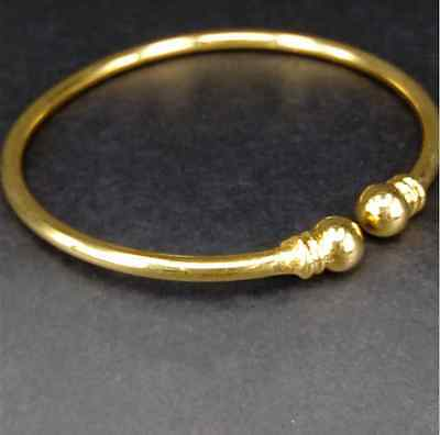 100% Solid 14K Yellow Gold Simple Bracelet Jewelry 14 Grams
