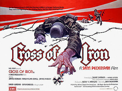 """Cross of Iron 1977 16"""" x 12"""" Reproduction Movie Poster Photograph"""