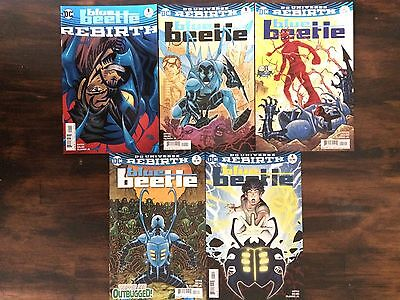 Blue Beetle DC Rebirth 1 one-shot, issues 1-4 complete run 1st print lot of 5