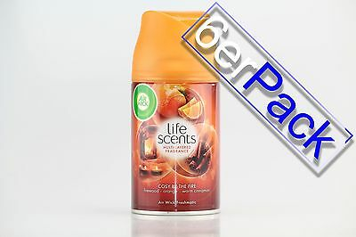 [1,46€/100ml] 6x AirWick Freshmatic Life Scents Cosy by the fire 250 ml Air Wick