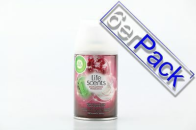 [1,46€/100ml] 6x AirWick Freshmatic Max life Scents Berry Cool Winter 250 ml