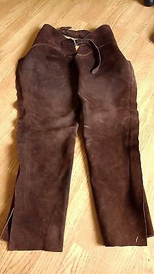 Brown SUEDE WESTERN FULL CHAPS, Adult, Working Order