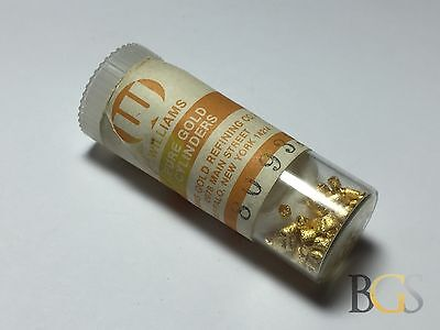 Vintage Pure 24K Gold Dental Cylinders in Original Container - FREE S&H